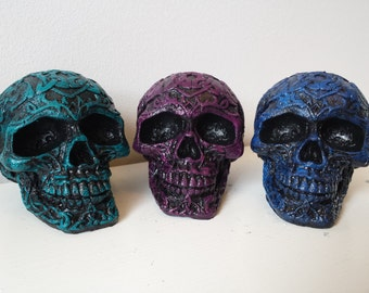 Celtic Gothic Skull Head Ornaments- Halloween Pagan Rock