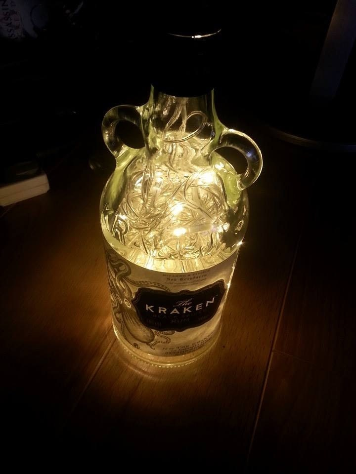 Upcycled Kraken Rum Bottle Lamp By Jclamps