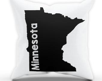Minnesota Home US State Pillow Case City Gift Present Tourist Holiday Pillowcase Cushion S. Paul Minneapolis