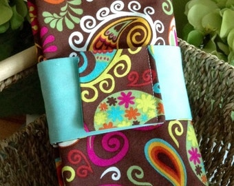 Napkins - Set of 6 -  Crazy Pasley - Reversible