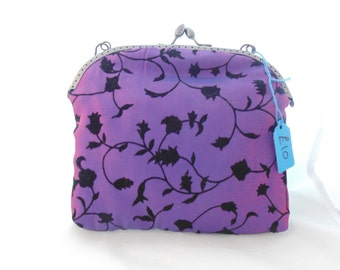 Purple and Black Evening Bag