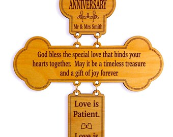 50th Anniversary Gift, Gift for Mom and Dad on their Anniversary, Special Message Gift to the Couple, Gift to a Wonderful Couple.