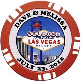 Las vegas casino poker chip magnet