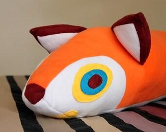 Huge Fox Pillow, Decorative Pillow, Fox Plush, Multi Purpose Pillow