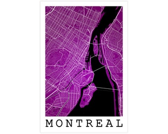 Montreal Street Map, Montreal Canada, Modern Art Print, Montreal Gift Idea, Montreal Decor, Montreal Quebec, Montreal City Street Map