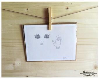 Chrysanthemum Eyes 5x7 Notecard with Envelope