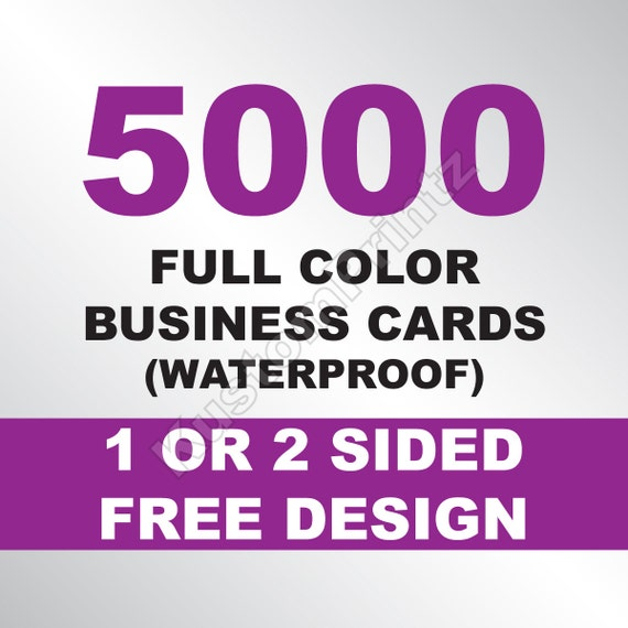 5000 Custom Full Color Business Cards 10PT Waterproof Stock