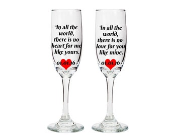 Wine Glasses with sayings - bride and groom wine glasses - wedding stemware - wedding toast- choose your font and phrase