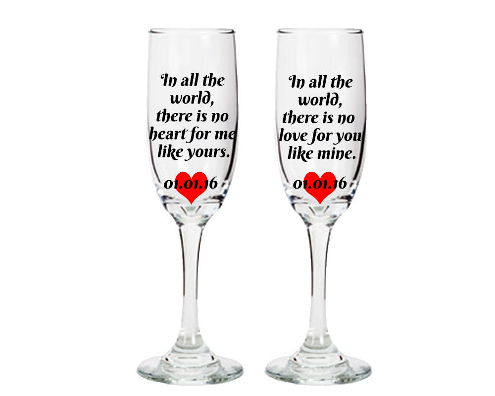 Wine glasses with sayings bride and groom wine glasses for Cute quotes for wine glasses
