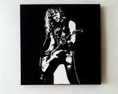 James Hetfield silhouette painting