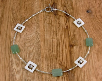 Jade and Mother of Pearl Choker