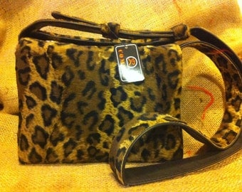 Vintage Comeco leopard print shoulder bag