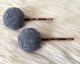 Vintage Inspired Fabric Button Hair Accessory