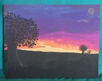 Sunset - Acrylic by Kelly