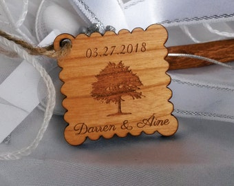 Wood wedding tag 110 / favor tag / personalized tag / wood tag / wooden tag