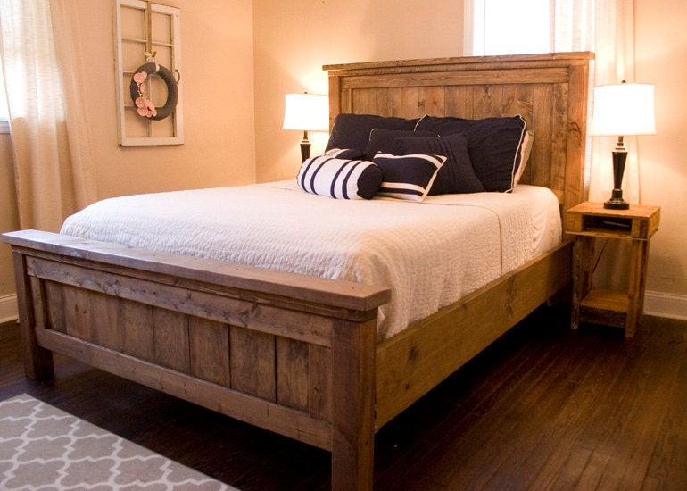 farmhouse bed rustic furniture wooden bed contact