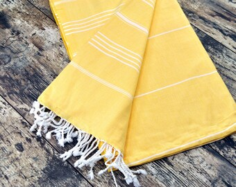 OPENING SALE 30% off Yellow Bath Towel Yellow Peshtemal Yellow Color Yellow Towel Yellow Fashion Yellow Summer Bathroom Accessories