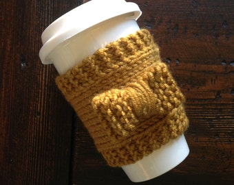 Coffee Cozy, Knit Coffee Cozy, Knit Cozy, Coffee Sleeve, Cup Sleeve