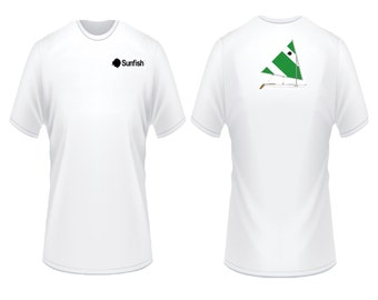 Sunfish Green and White T-Shirt