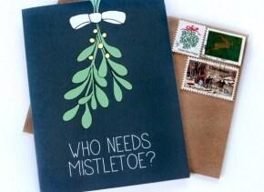 Mistletoe Christmas Card - Christmas Card for Husband