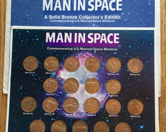 1969 Man in Space 21 Coin Set with original Packaging