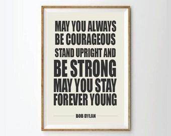 Poster Art, Bob Dylan, Music Poster, quote art, typography poster, lyric quote, posters, poster, typography print