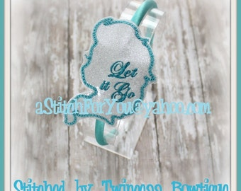 Ice Queen HB Slider Hair Pretty Accessory ~ In The Hoop Headband ~ Downloadable DiGiTaL Machine Embroidery Design by Carrie