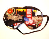 Sleep Mask-  United States Marine Corps - Handmade - Fits Kids to Adults
