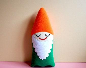 Gnome Plush Toy, MINI Size Gnome, Gnome Pillow, Dwarf Toy, Elf Toy, Santa's Elf Toy, Bearded Doll, Gnome Nursery Decor, Baby Cushion