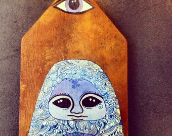 Yeti House Original painting on wood by Megan Noel