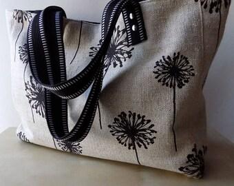 Black Denton Dandelion  - Tote Bag