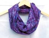 Purple Batik Infinity Scarf