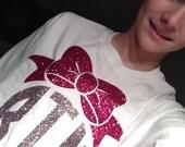 Big Bow Glitter Monogram Shirt