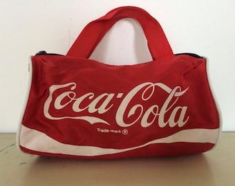 Vintage Mini Coke duffle bag coca cola 1980s