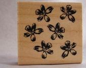 hawaiian plumeria allover flower pattern rubber stamp