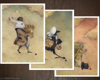 The Rogue Aeroplane -3 Piece Re-Painted Giclee Set