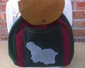 Big Kid Sized Backpack -- HIPPO