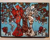 Tengo Un Sueno de Paz Mini Original Art Woodblock Print
