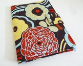 Big Bold Floral Print Kindle 2 Cover, Soft Casual Book Style