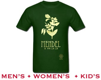 Mendel Science Shirt, Gregor Mendel Pea Plant, Geneticist Tee Shirt, Rock Star Genetics Scientist, Cool Science, Nerdy Tshirt, Geek Gift