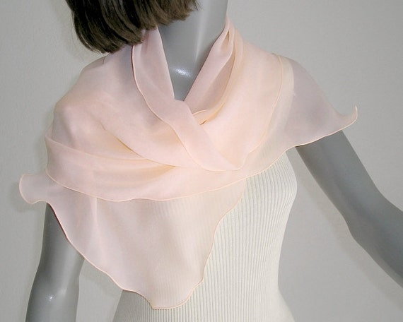 light pink scarf apricot scarf sheer pink wrap