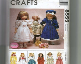 McCall's  Doll Clothes Package Pattern 8555