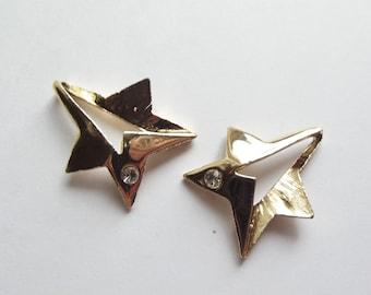 Vintage gold plated shooting star pendant charms