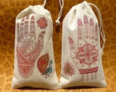 Mehndi Ceremony Party Favor Bags | WEDDING FAVORS | South Asian Indian Bridal Shower Henna Engagement | Pakistani Bachelorette Party| Muslim