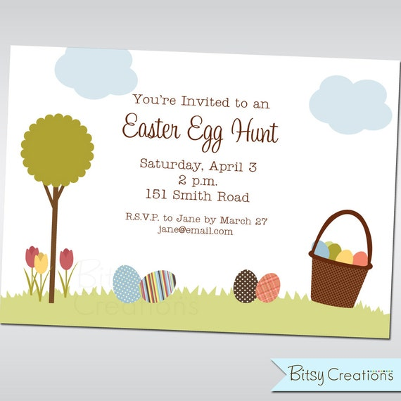 Printable Easter Egg Hunt Invitation