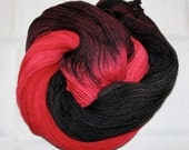 Hand dyed superwash sock yarn DRACULA