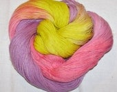 Hand dyed superwash sock yarn BABY BABY
