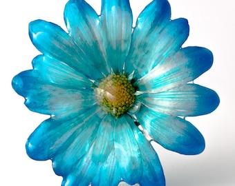 Blue Chrysanthemum Pin