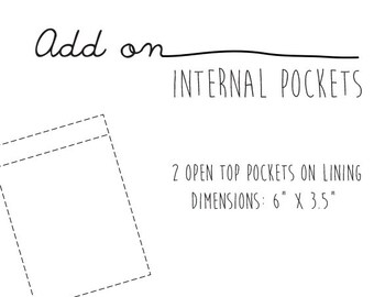 Add On - Pockets for Faux Leather Bag