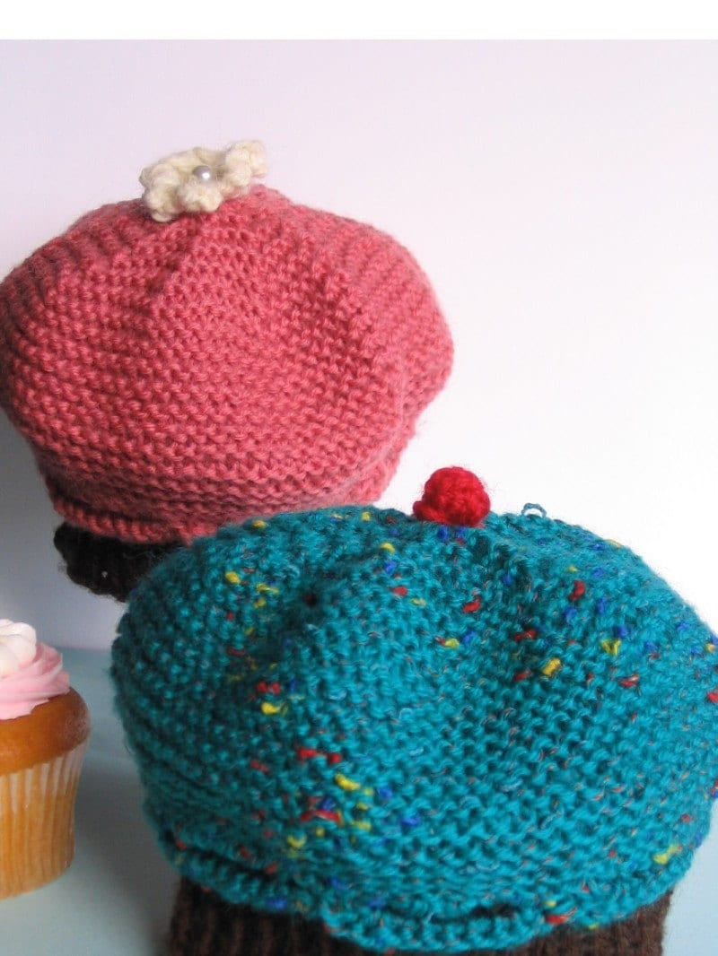 Knitting Pattern Cupcake Beanie : Cupcake Hat Knitting Pattern PDF baby and toddler size